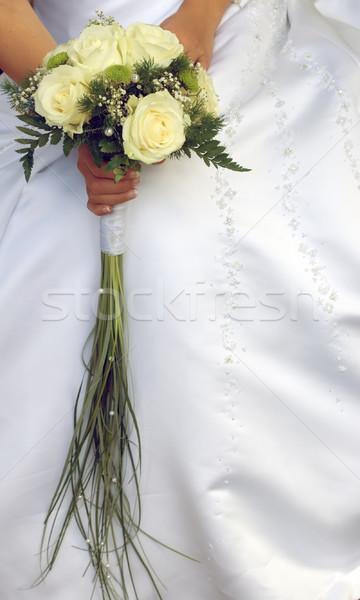 Capina buquê noiva de mãos dadas colorido casamento Foto stock © carenas1