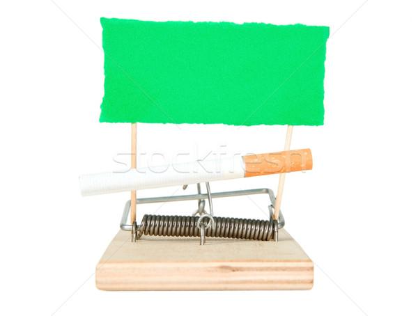 Mouse trappola sigaretta carta legno verde Foto d'archivio © carenas1