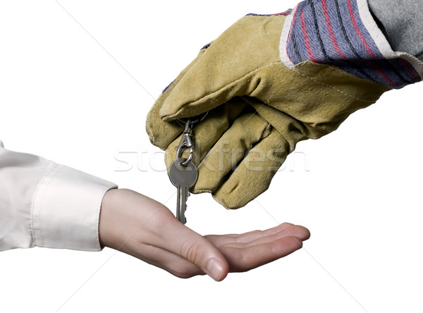 Foto stock: Indústria · trabalhador · chave · empresário · negócio · terno
