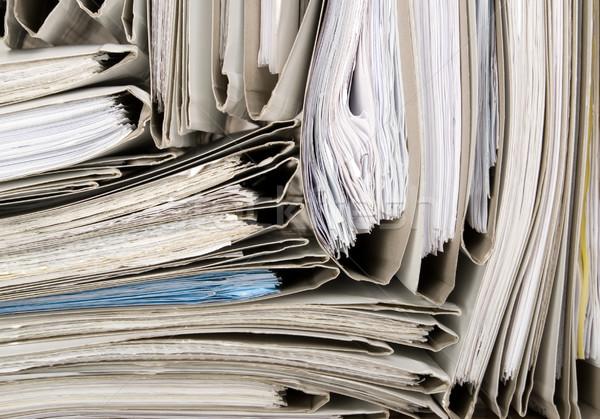 Documenten kantoor wetenschap werknemer financieren document Stockfoto © carenas1
