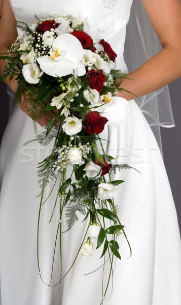 прополка букет невеста , держась за руки красочный любви Сток-фото © carenas1