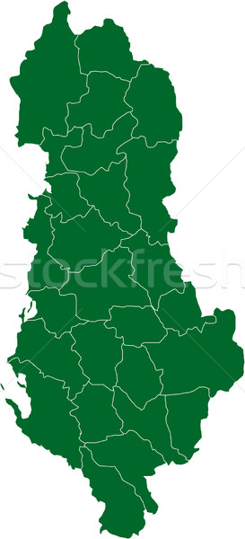 Map of country, Albania Stock photo © carenas1