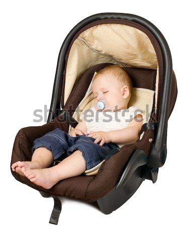 Stock fotó: Fiú · autó · ülés · biztonság · baba · ül
