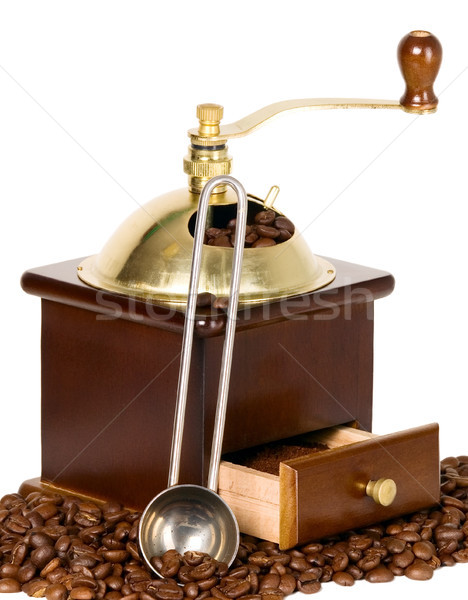 Coffee grinder in wooden case Stock photo © carenas1