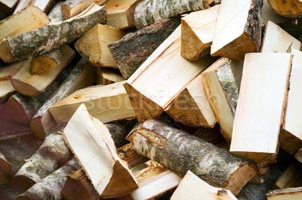 Houten gesneden brandhout textuur boom hout Stockfoto © carenas1