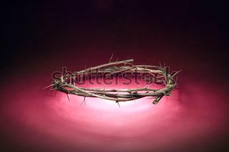 Coroa madeira vermelho deus dor cristo Foto stock © carenas1