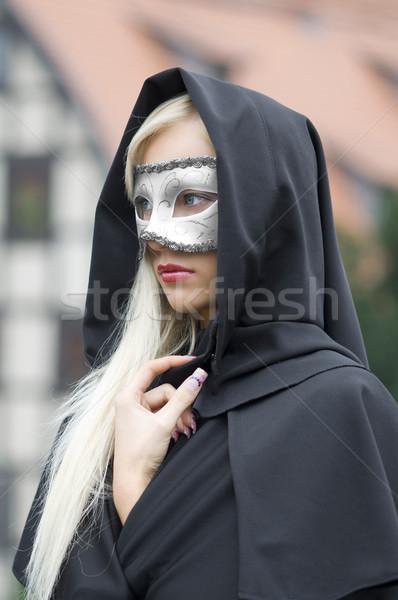 Maschera fuori ritratto bella dietro Foto d'archivio © carlodapino