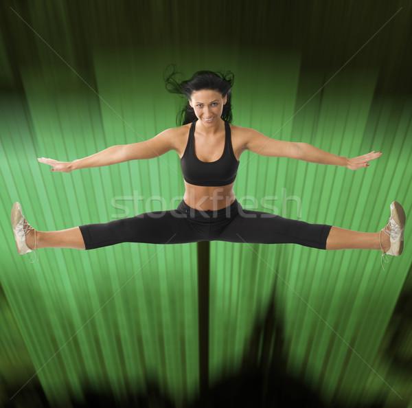 girl jumping Stock photo © carlodapino
