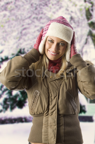 girl with winter dress Stock photo © carlodapino