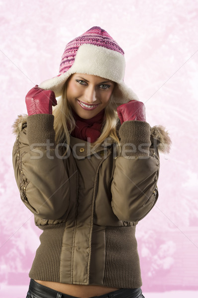 girl ready for winter Stock photo © carlodapino