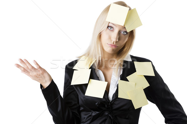business blonde woman with dejected expression Stock photo © carlodapino