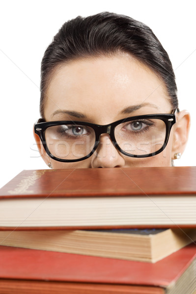 Stock photo: student with glasses