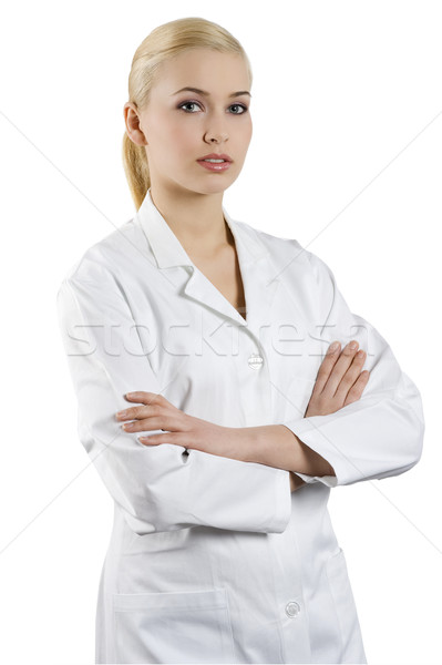 girl in medical suit Stock photo © carlodapino