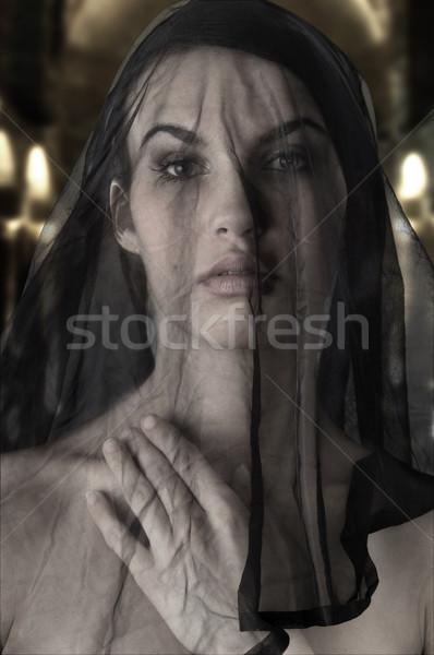 the black wife Stock photo © carlodapino