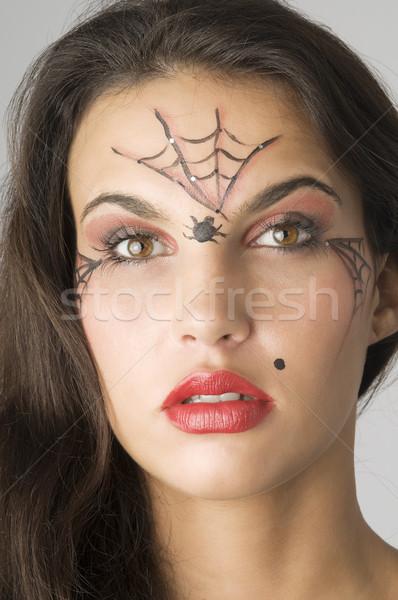 Stock photo: spider web