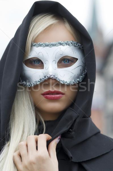Maschera cap bella faccia bianco Foto d'archivio © carlodapino