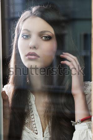 close up beauty portrait ogf girl Stock photo © carlodapino