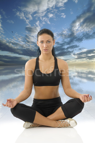 girl in yoga pose Stock photo © carlodapino