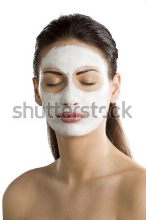 肖像 若い女性 美 マスク 顔 ストックフォト © carlodapino