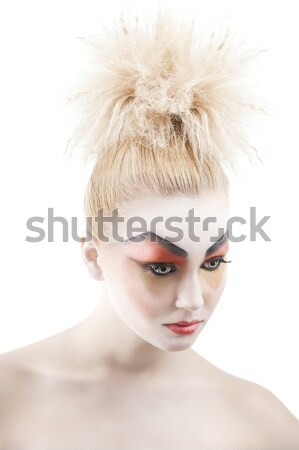 beauty young girl hairstyle, in front of the camera Stock photo © carlodapino