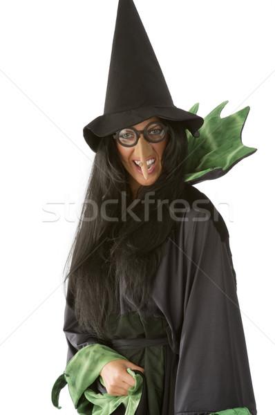 Brutto strega bruna grande naso occhiali Foto d'archivio © carlodapino