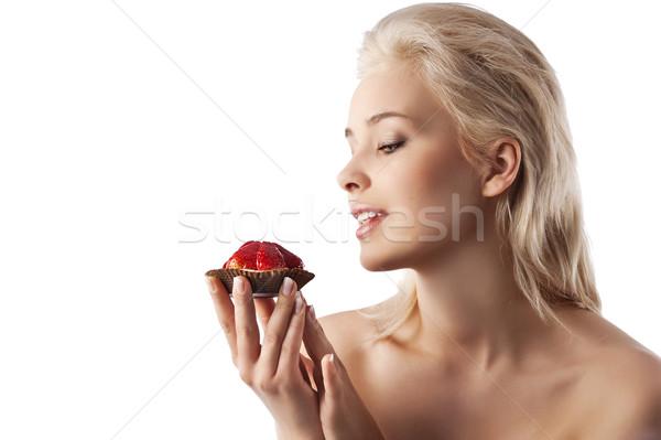 the strawberry sweet Stock photo © carlodapino