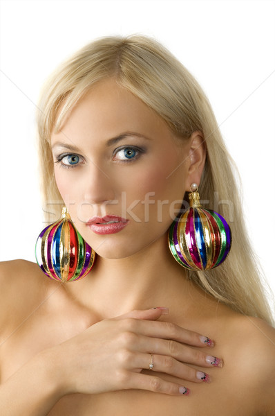 christmas earring Stock photo © carlodapino