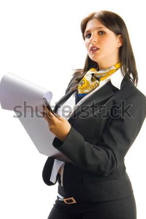 Kontrol genç güzel kadın siyah Stok fotoğraf © carlodapino
