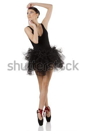 ballerina on pointe Stock photo © carlodapino