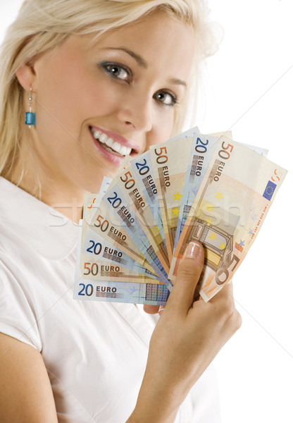 euro woman smiling Stock photo © carlodapino