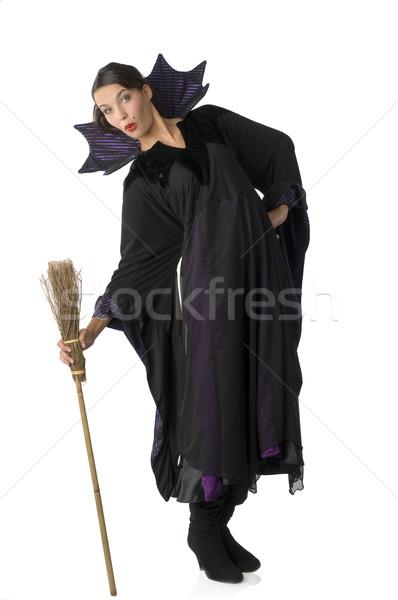 witch and broom Stock photo © carlodapino