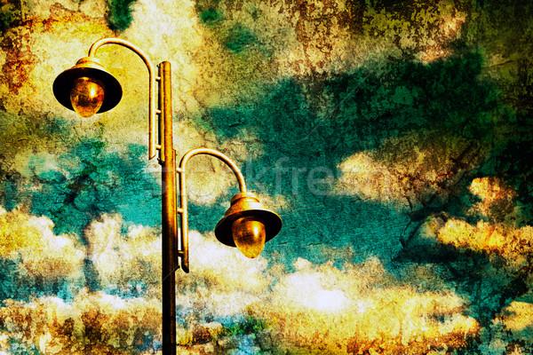 старые изображение стиль небе Сток-фото © carloscastilla