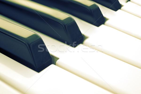 клавиши пианино изображение старые стиль фортепиано Сток-фото © carloscastilla