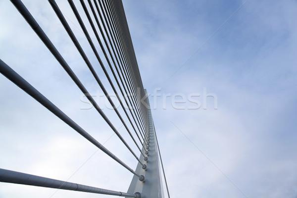 Moderne brug detail hemel straat Blauw Stockfoto © carloscastilla
