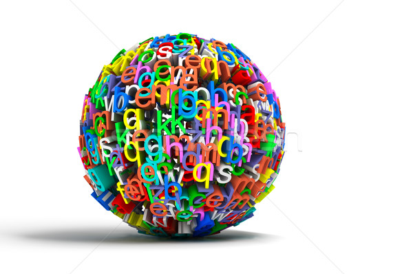 Colored ball letters Stock photo © carloscastilla