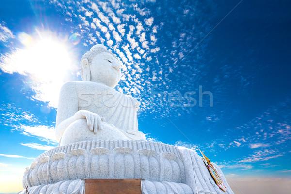 Egzotikus nagy Buddha Phuket kolostor égbolt Stock fotó © carloscastilla