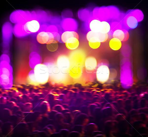 Soyut yaşamak müzik kamu konser ışık Stok fotoğraf © carloscastilla