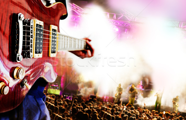 Viver música jogador público festa guitarra Foto stock © carloscastilla
