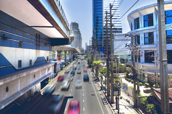 Asia stad verkeer thai centraal zakenwijk Stockfoto © carloscastilla