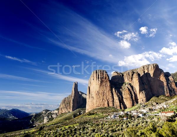 canyon and mountains dreamscape Stock photo © carloscastilla