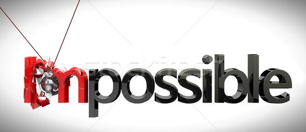 Iş imkânsız başarı top rock'çı işadamı Stok fotoğraf © carloscastilla