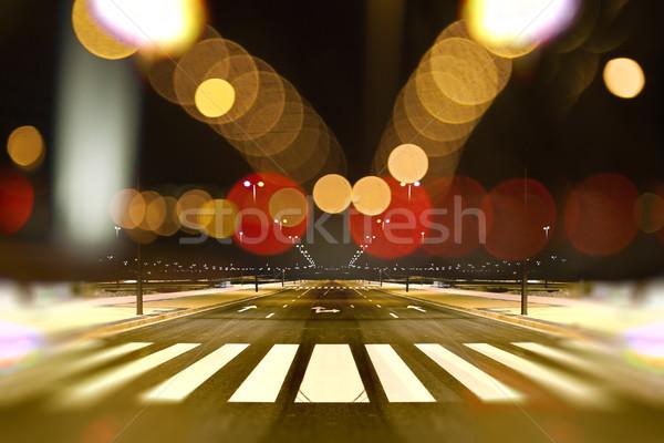 Zdjęcia stock: Streszczenie · Cityscape · noc · pusty · ulicy · Night · City