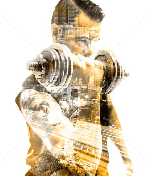 Vida saudável ginásio exercer equipamento esportes movimento Foto stock © carloscastilla