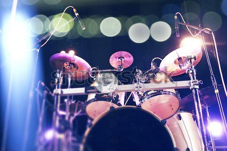 Dob színpad közelkép kép buli fény Stock fotó © carloscastilla