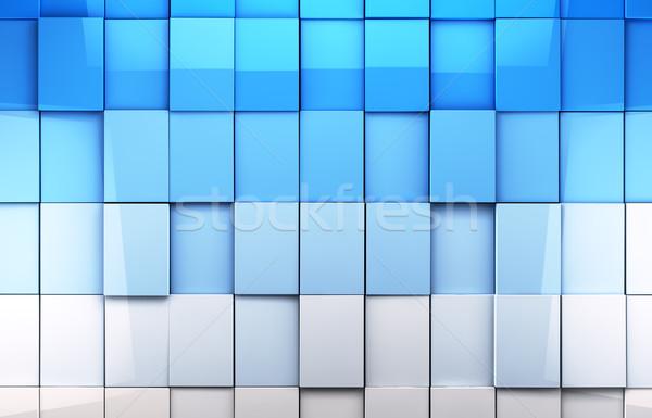 плитки мозаика синий аннотация стекла пространстве Сток-фото © carloscastilla