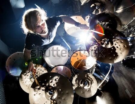 生活 音樂 儀器 男子 播放 搖滾音樂 商業照片 © carloscastilla