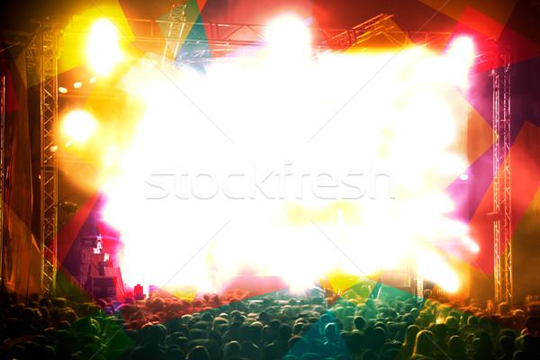Music concert background Stock photo © carloscastilla