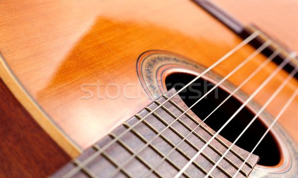 Hiszpanski gitara szczegół obraz kopia przestrzeń Zdjęcia stock © carloscastilla