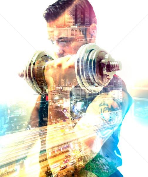 Egészséges élet tornaterem testmozgás felszerlés sport mozgás Stock fotó © carloscastilla