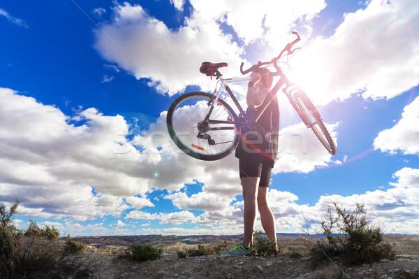 Mountain bike.Sport and healthy life Stock photo © carloscastilla